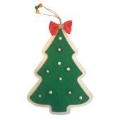 - Yeşil Keçeli Çam Ağacı Ahşap Kapı Süsü