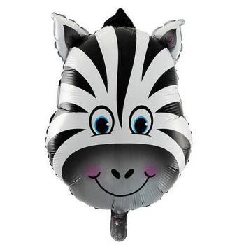Zebra Kafası Folyo Balon