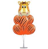 - Zürafa Folyo Balon Seti ve 7'li Balon Standı